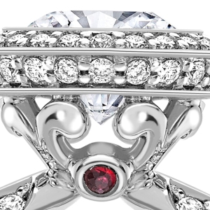 flower ring with ruby